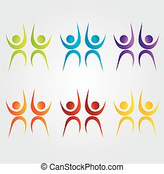Abstract people- colorful people