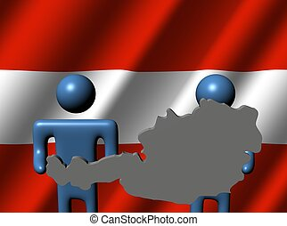 people holding Austria map sign