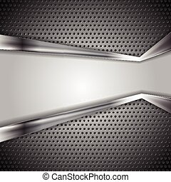 Abstract perforated metal background