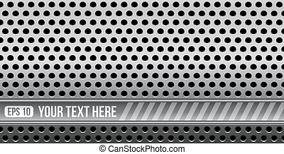 abstract perforated metal with space for your text