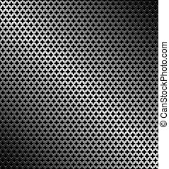 Abstract perforated metallic dark background
