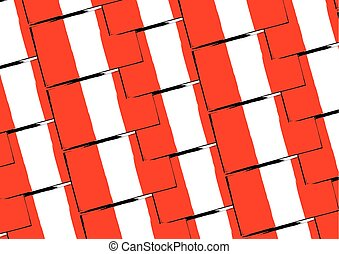 abstract PERUVIAN flag or banner vector illustration