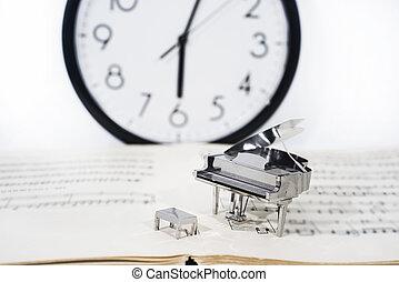 Abstract photo of music. Piano Jazz music.