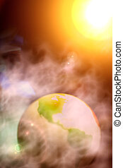 Abstract Photo of Surreal Earth and Solar System
