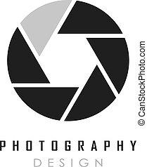 Abstract photo vector logo