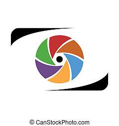 Abstract photographer logo work