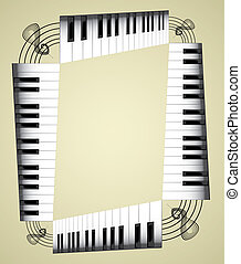 Abstract piano roll as the staircase - an illustration