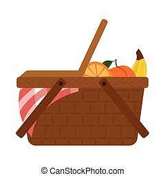 abstract picnic object on a white background