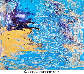 abstract picture in fluid acrylic flow painting