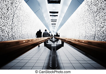 Abstract picture of Commuters ( London, Underground)