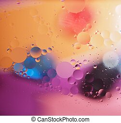 Abstract pictures. Multicolored circles on a colorful background.