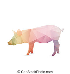 Abstract pig isolated