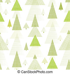 Abstract pine tree forest seamless pattern background