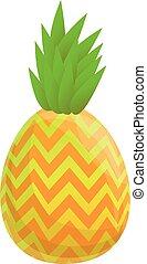 Abstract pineapple icon, cartoon style