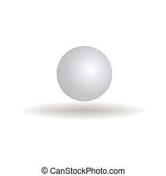 ping pong ball - abstract ping pong ball with shadow effect ...