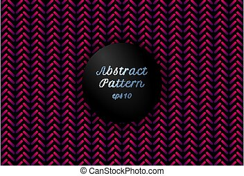 Abstract pink and purple gradient color geometric rounded lines shape chevron pattern on black background.