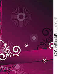 pink background card/flyer