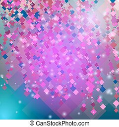 Abstract pink background with diamonds and squares. Vector