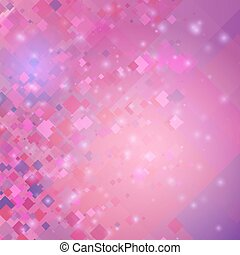 Abstract pink background with diamonds. Vector