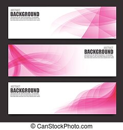 Abstract pink banner background