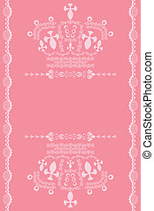 Abstract pink crown background. Illustration vector.