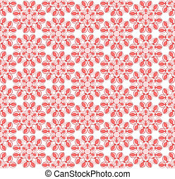 Abstract pink floral pattern