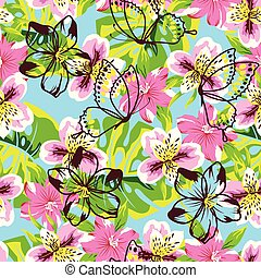 abstract pink flower pattern