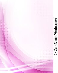 abstract pink flowing vertical background with halftone