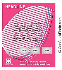 Abstract pink flyer template