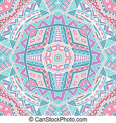 abstract pink geometric ornament background
