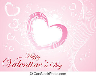 abstract pink heart background