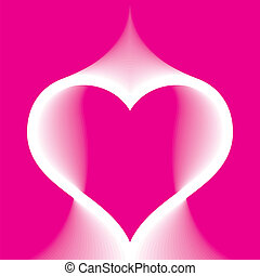 Abstract pink heart