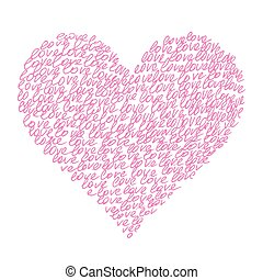 "Abstract pink heart from ""love"""
