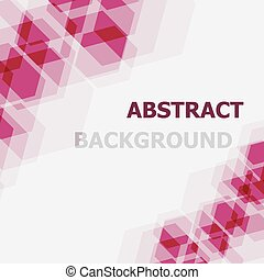 Abstract pink hexagon overlapping background