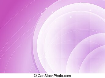 abstract pink horizontal background with transparent circles. vector illustration