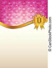 Abstract pink invitation card