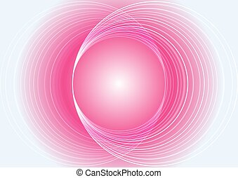 Abstract pink light circle vector background