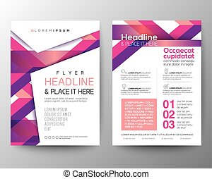 Abstract pink magenta background for Poster Brochure Flyer design Layout vector template