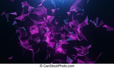 Abstract pink plexus triangle background