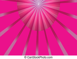 Abstract pink ray light background