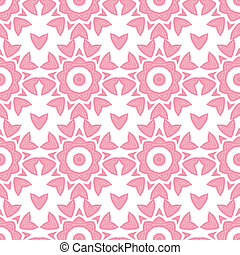 Abstract pink repeat geometrical seamless pattern background...