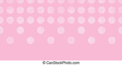 Abstract pink textile dots horizontal seamless pattern...