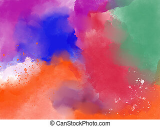 Abstract pink watercolor background. Paint design element.
