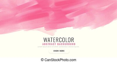 abstract pink watercolor banner design