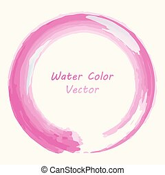 Abstract Pink watercolor design, Water color circle on a white background