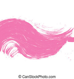 abstract pink watercolor on white