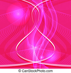 Abstract pink waved background