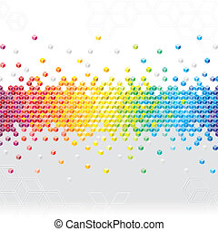 Abstract pixel cubes flash background.