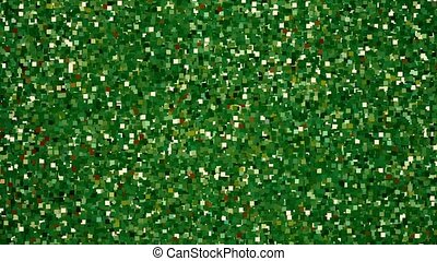 Abstract pixels in green color