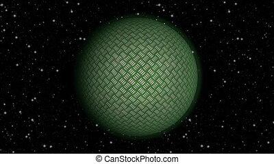 Abstract planet seamless loop rotation